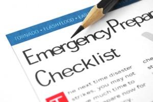 Disaster Preparation, Disaster preparation checklist, emergency preparation checklist